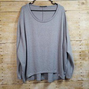 Zanzea Gray Long Sleeve Tunic Shirt Size XL
